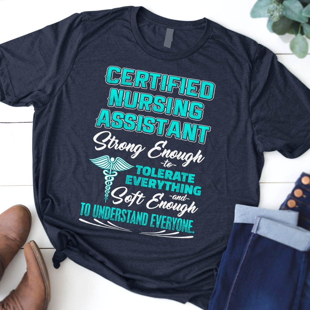 Cna Gift Certified Nursing Assistant Cna Shirt Nurse Etsy