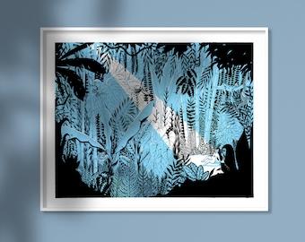 In the Jungle - screen print 40x50 cm (unframed)