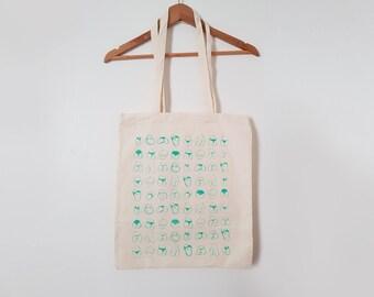Tote bag - Motif Fesses - Phosphorescent