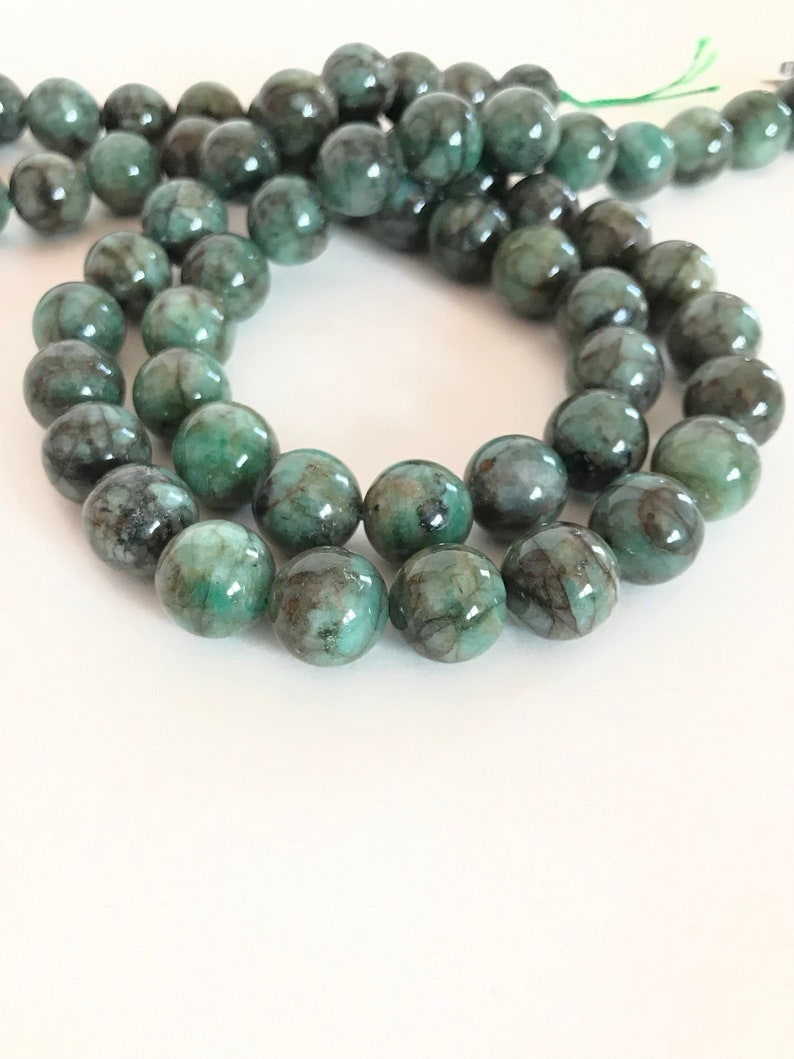 creative 21 inch Beautiful Natural Emerald Round Necklace Lay out,16 mm to 9 mm appx. 001038 Green color,Graduated 100/% Natural