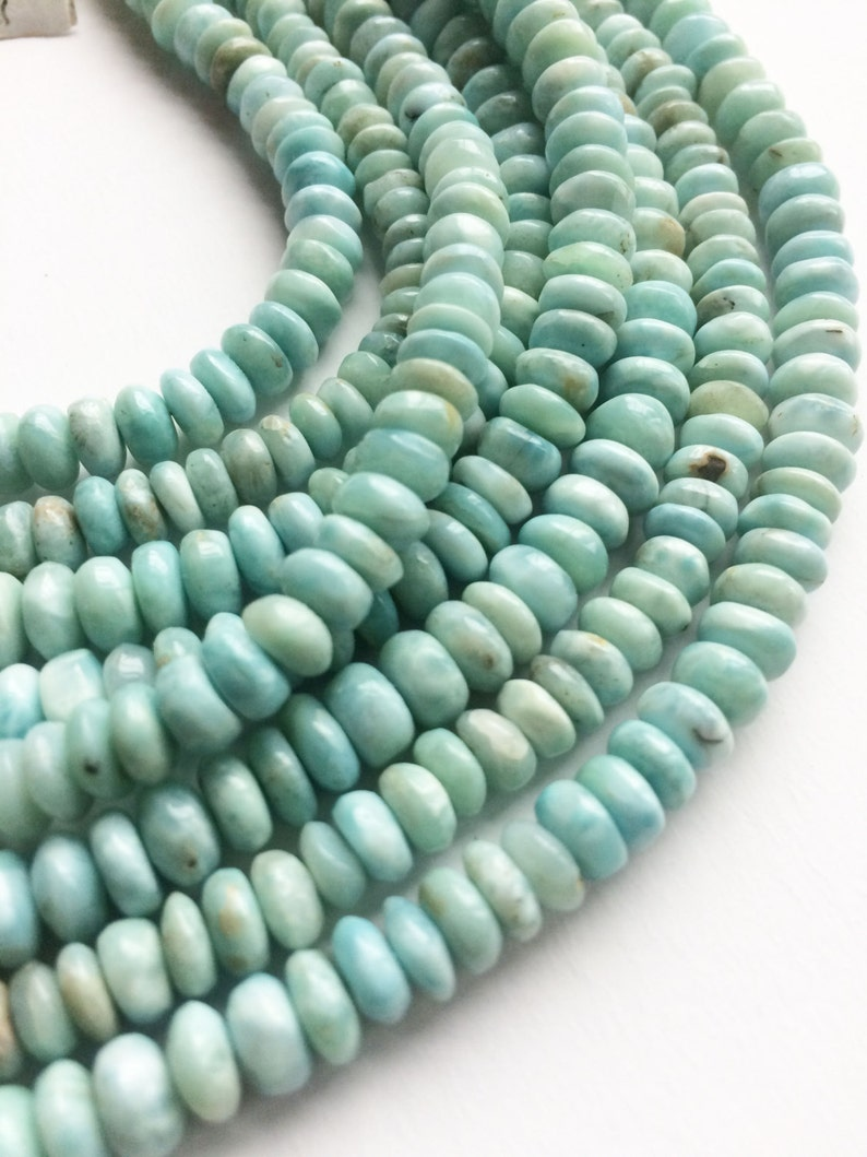 Ready to wear,Sterling silver 16-18 inch adjustable 100/% natural Larimar One Necklace