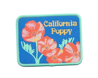 Vintage California Poppy Flowers Patch