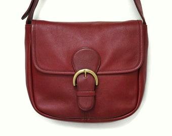 Vintage Coach Red Bedford Shoulder Bag d5e6b37cbd75a
