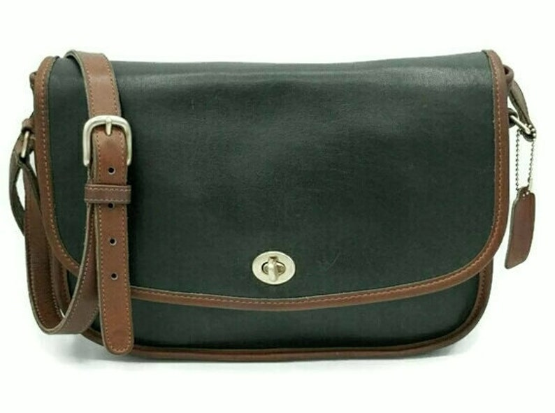 4065d327 Vintage Coach Green City Bag, Crossbody Purse