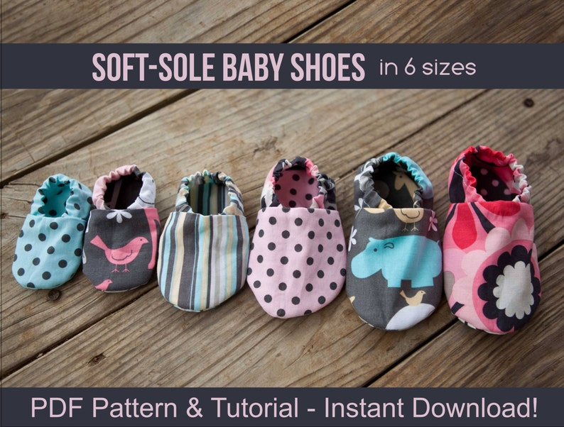 878eda50a83ed DIY Soft Sole Baby Shoes - Baby Shoe Pattern - PDF Sewing Patterns for Baby  Girl or Baby Boy - Instant Download Printable - DIY Crafts
