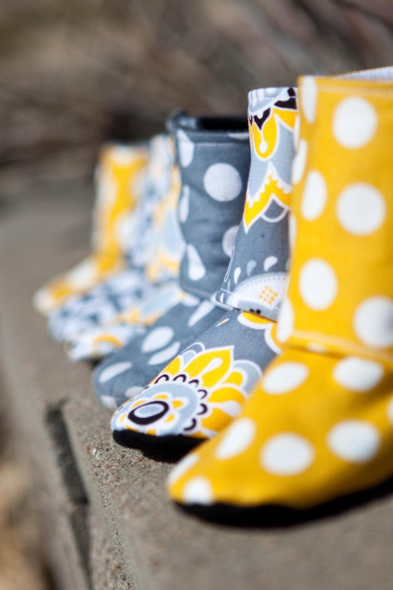 Maggies Stay On Baby Booties Sewing Tutorial Printable Etsy