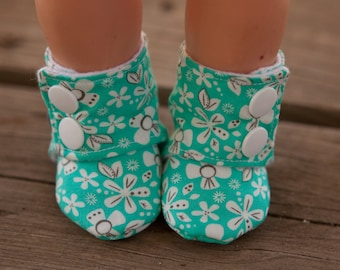 """Doll Bootie PDF Pattern - DIY Doll Shoes for 18"""" Doll - Clothes"""