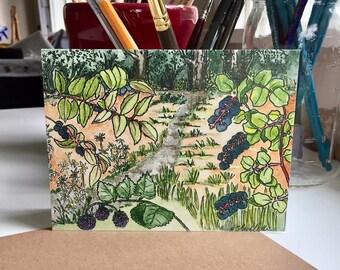 Greeting card original art print