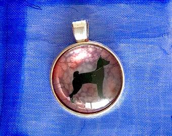 Basenji round pendant