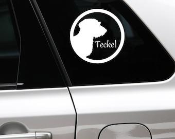 Wire-haired Dachshund - Teckel sticker in circle sticker