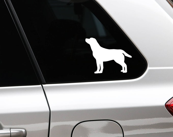 Labrador retriever silhouette dog sticker