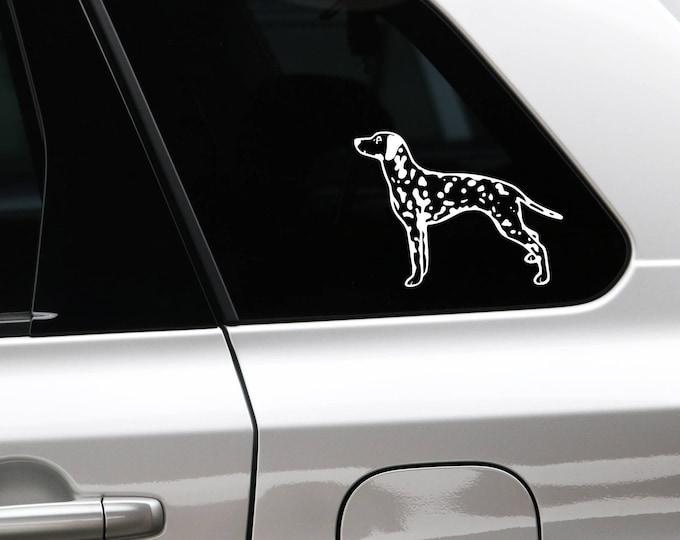 Dalmatian dog silhouette sticker