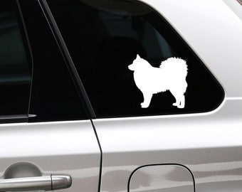 Finnish Lapphund silhouette dog sticker
