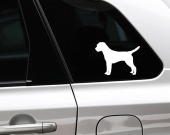 Border Terrier silhouette dog sticker