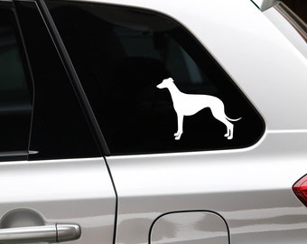 Greyhound silhouette dog sticker