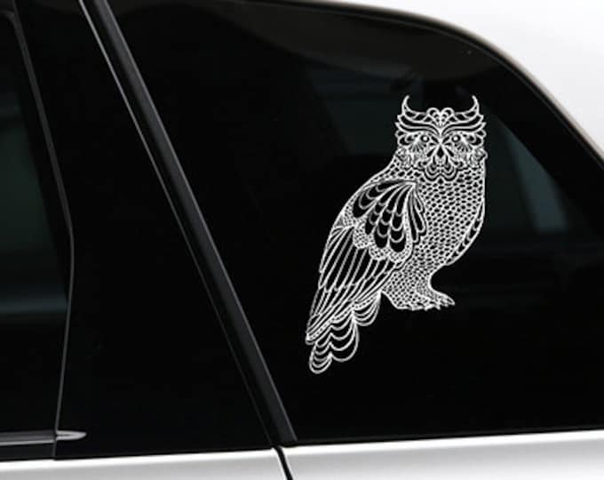 Owl silhouette sticker