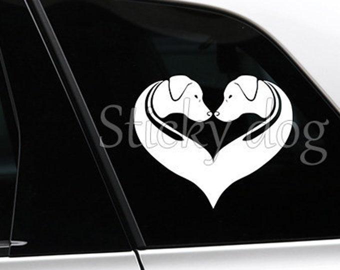 Rhodesian Ridgeback silhouette dog sticker