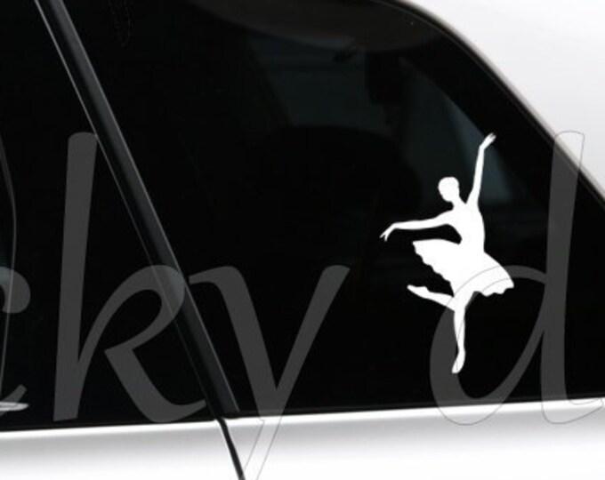 Dancing Ballerina silhouette ballet sticker