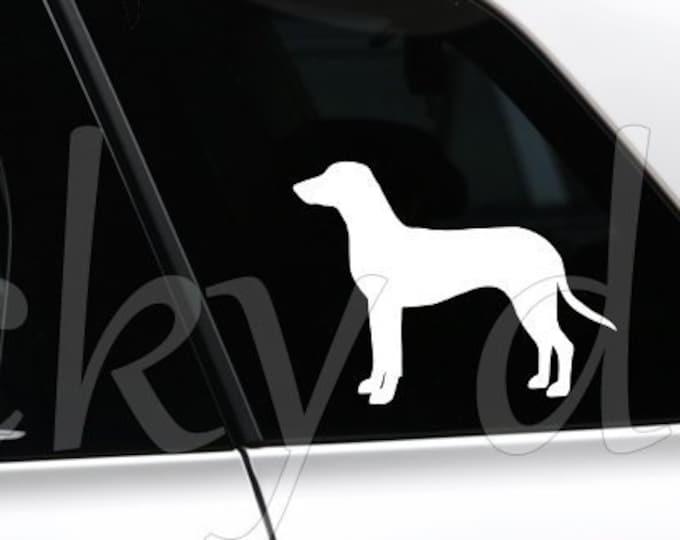 German Hound silhouette dog sticker