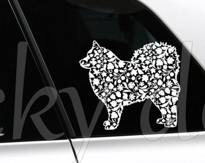 Finnish Lapphund silhouette dog sticker