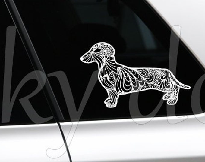 Short-haired Dachshund - Teckel sticker dog silhouette