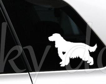 English Cocker Spaniel silhouette dog sticker