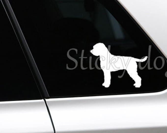Lagotto Romagnolo silhouette dog sticker