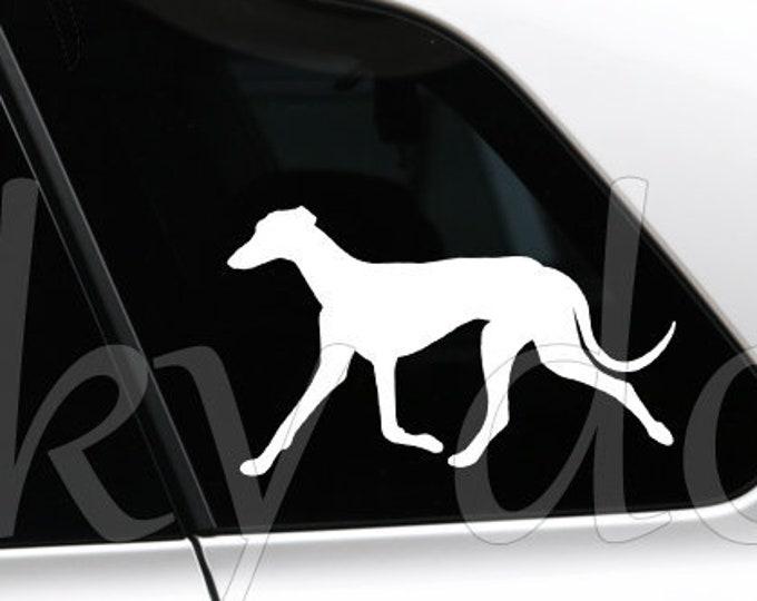 Galgo Español silhouette dog sticker