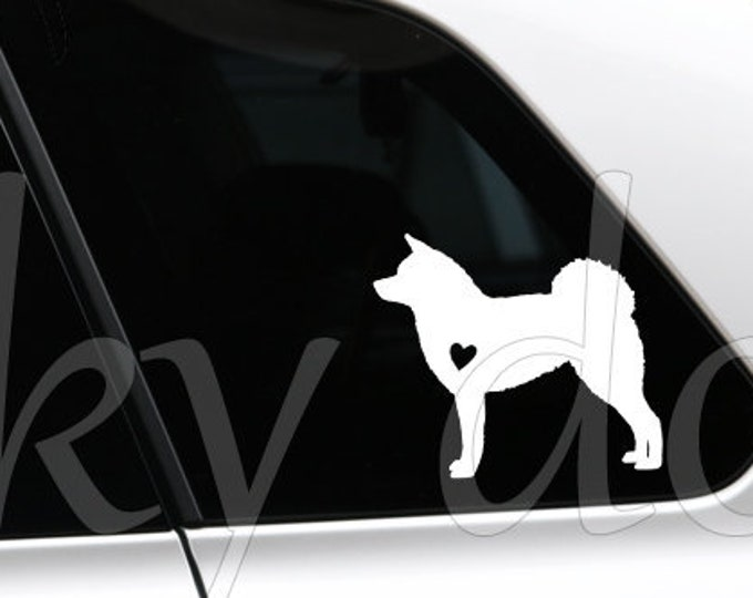 Akita silhouette dog sticker