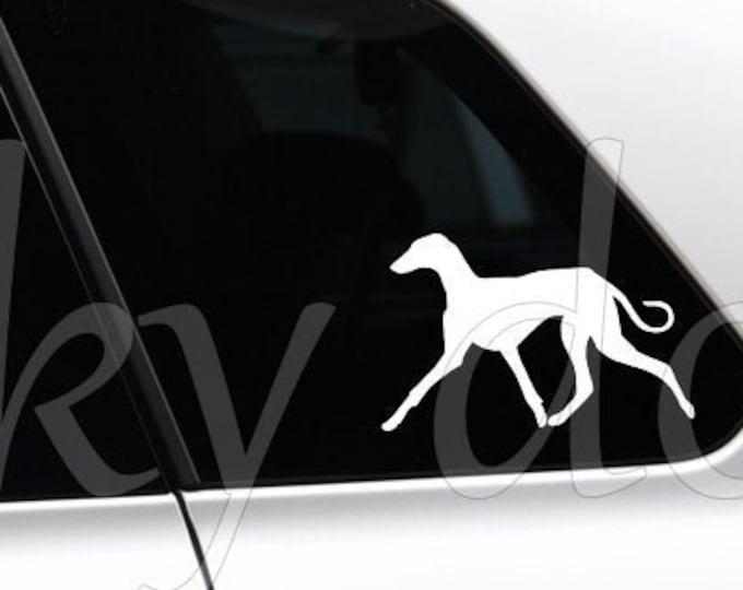 Azawakh dog walking silhouette sticker