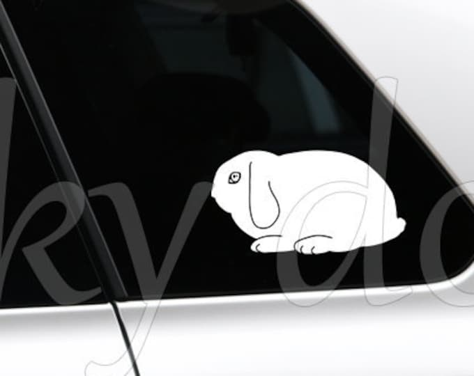 Holland Lop silhouette rabbit sticker