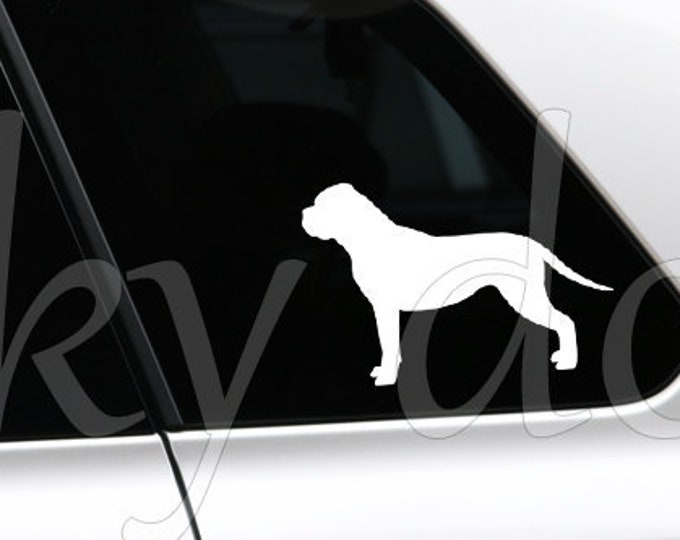 Bullmastiff silhouette dog sticker