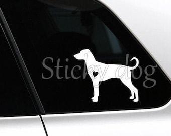 German Pinscher silhouette dog sticker