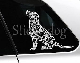 Labrador retriever sitting art dog silhouette sticker