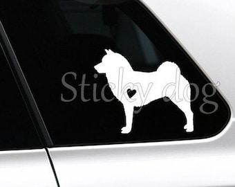 Shiba inu dog silhouette sticker