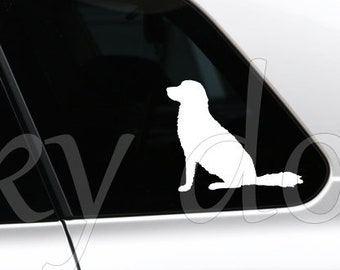 Stabyhoun sitting silhouette dog sticker