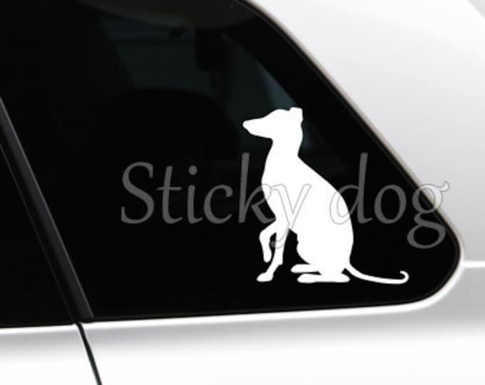 Italian greyhound/ sighthound sticker dog silhouette