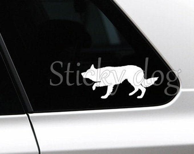 Border Collie silhouette dog sticker