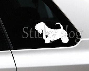 Sealyham Terrier dog silhouette sticker
