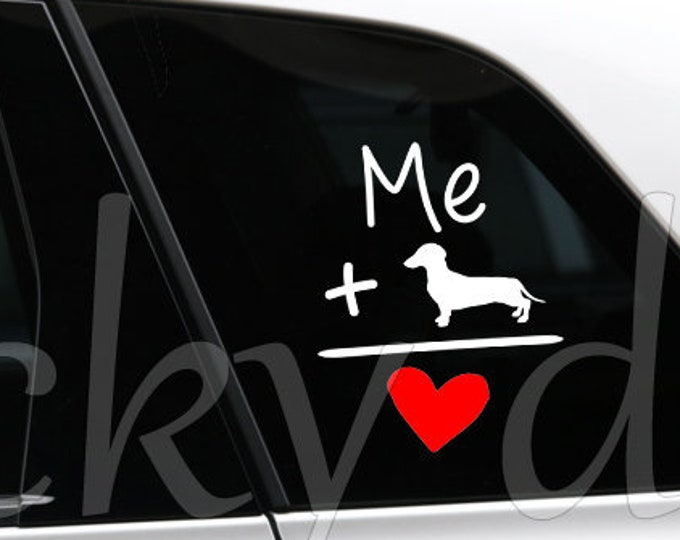 Short-haired Dachshund - Teckel sticker dog silhouette