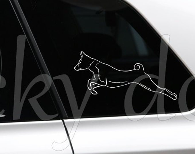 Basenji silhouette dog  sticker