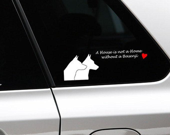 Basenji yodeling silhouette sticker