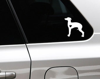 Italian greyhound/ sighthound silhouette dog sticker