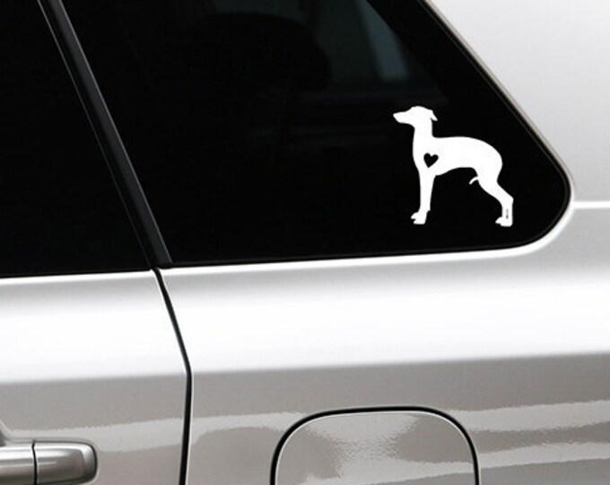 Italian greyhound/ sighthound silhouette dog sticker