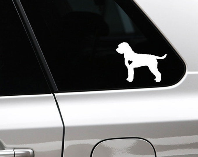 Lagotto Romagnolo silhouette dog sticker