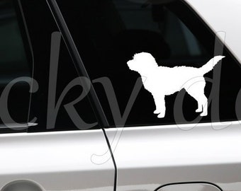 Dutch Smoushond silhouette sticker
