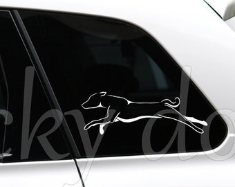 Basenji running silhouette dog sticker
