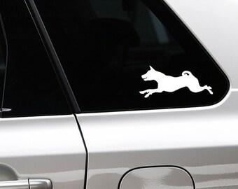 Basenji silhouette sticker