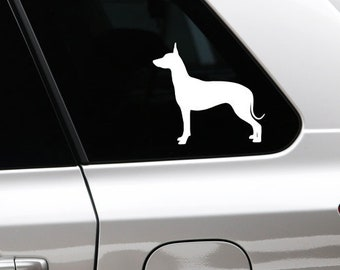 Mexican Hairless Dog sticker dog silhouette