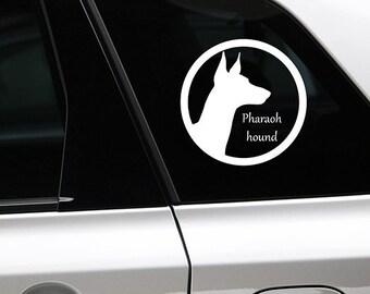 Pharaoh hound silhouette dog sticker